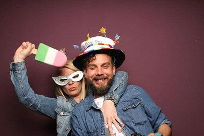 Geburtstagsfeier Fotobox